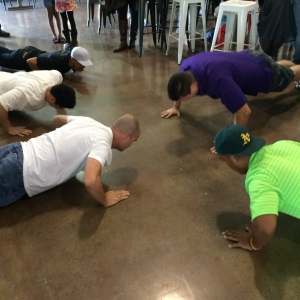 the push-up contest