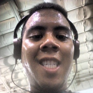Ernesto was busy sweating it out on a treadmill according to his Facebook & Instagram post