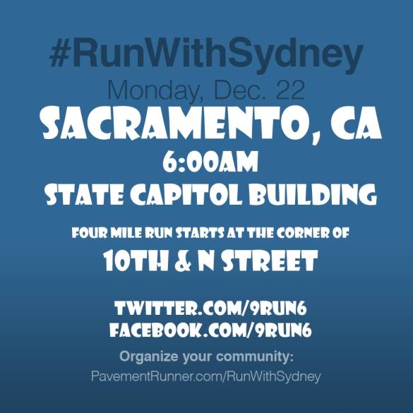 #RunWithSydneySACRAMENTO